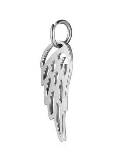 Stainless Steel With Gold Plated Trendy wing Charms
