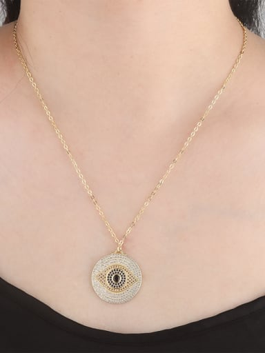 Copper With  Cubic Zirconia Trendy Evil Eye Necklaces