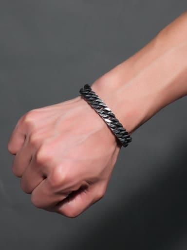 Vintage Geometric Shaped Stainless Steel Men Bracelet