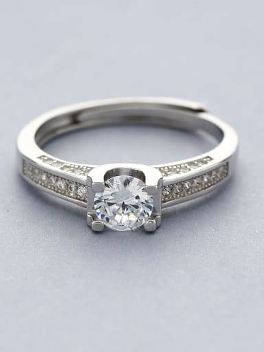 Trendy 925 Silver Zircon Ring