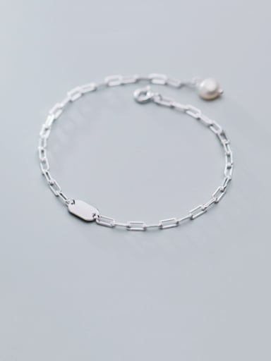 925 Sterling Silver With Smooth Simplistic Chain Bracelets