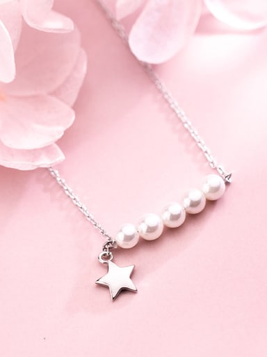 925 silver Pentagram Korean style necklace