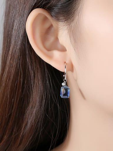 Alloy With Cubic Zirconia Simplistic Geometric Hook Earrings