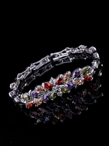 colorful Zircon Two Pieces Jewelry Set