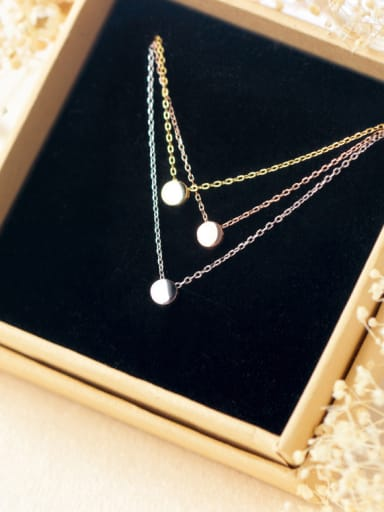 S925 Silver Small Ball Peas Fashion Necklace