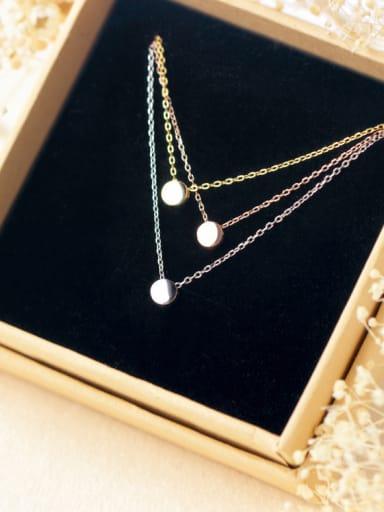 S925 Silver Small Ball Peas Fashion Necklace