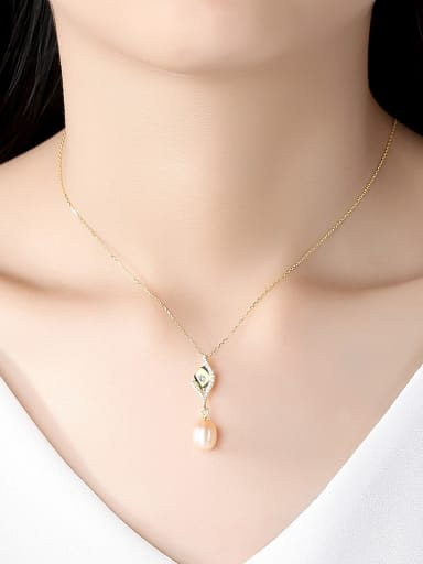 925 Sterling Silver With Gold Plated Simplistic Irregular Necklaces