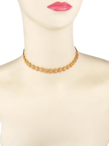Copper With 14k Gold Plated Delicate Flower Necklaces