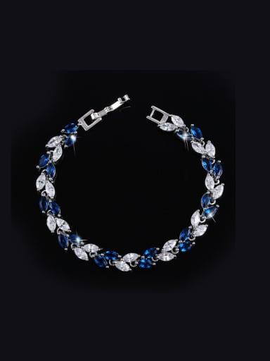 Fashion AAA Zircon Leave-shape Bracelet