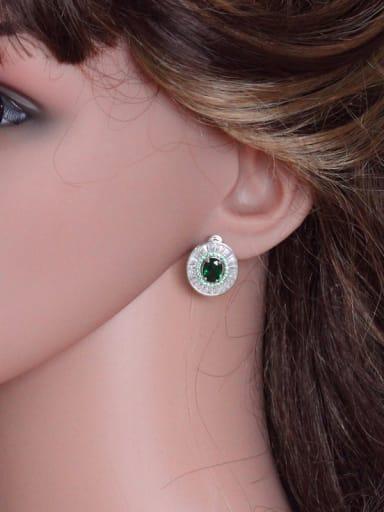 High Quality Zircon Stud Cluster earring