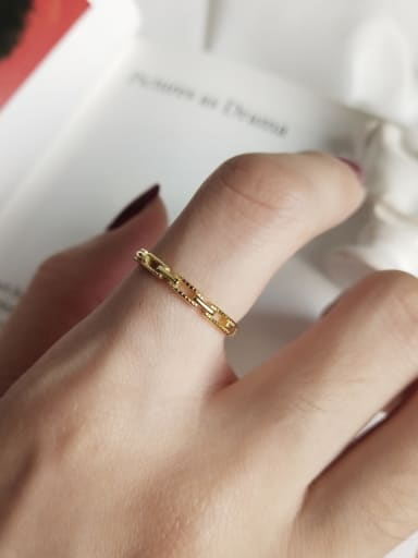 Sterling Silver plated 18K-gold ring