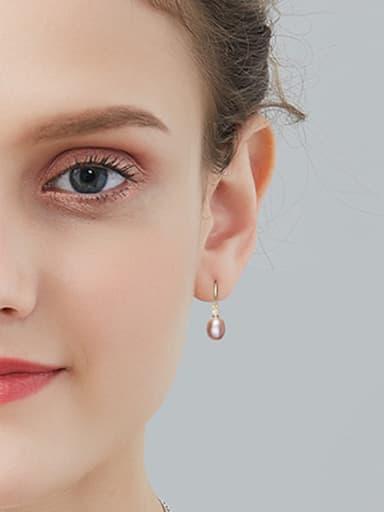 Fashion Freshwater Pearl 925 Silver Earrings