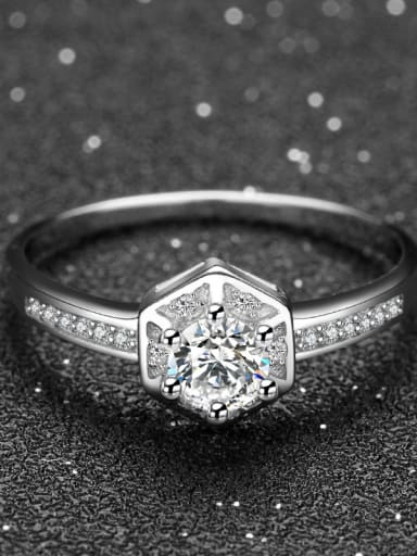 Noble Shining Micro Pave S925 Silver Ring