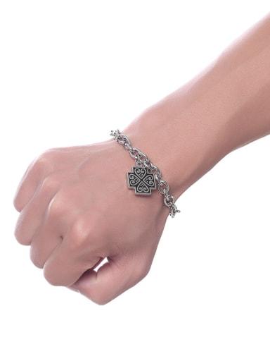 Punk Style Cross Shaped Stainless Steel Bracelet