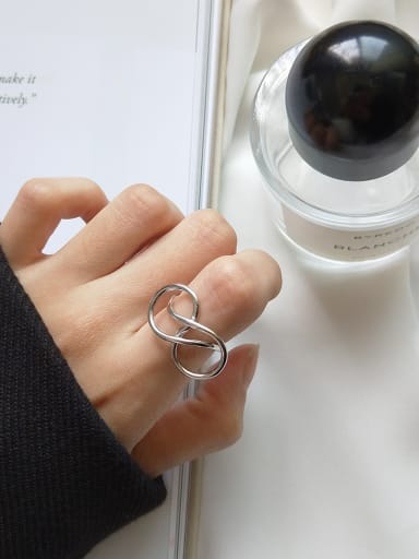 Sterling Silver exaggerated minimalist free size ring