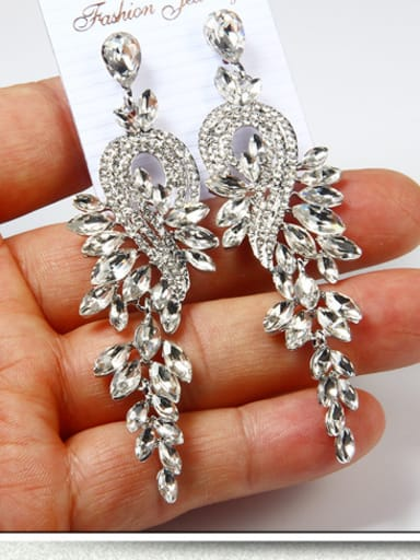 Stainless Steel With Vintage Water Drop Earrings