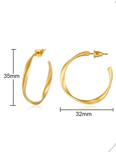 Stainless Steel Classical circle Hoop Earrings