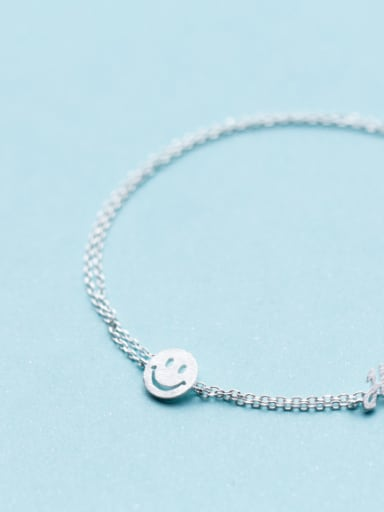 Temperament Smiling Face Shaped S925 Silver Necklace