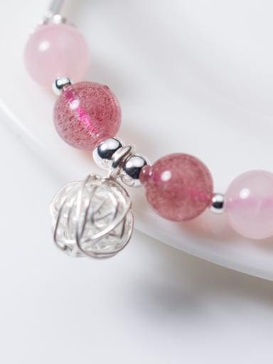 Fresh Ball Shaped S925 Silver Crystal Bracelet