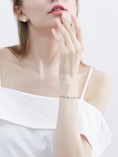 S925 Silver Clover-shaped Bracelet