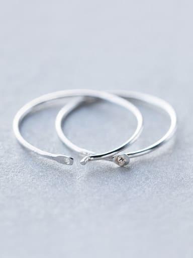 S925 Silver Singel Round Fashionable hoop earring
