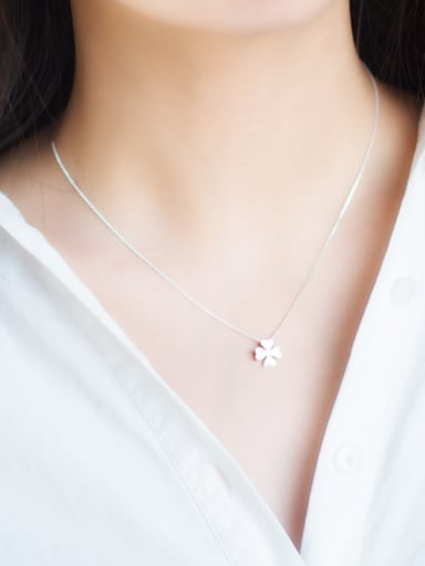 s925 Silver Fashion sweet Flower Necklace