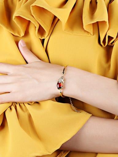 Fashion Ruby Stone Gold Plated Bracelet