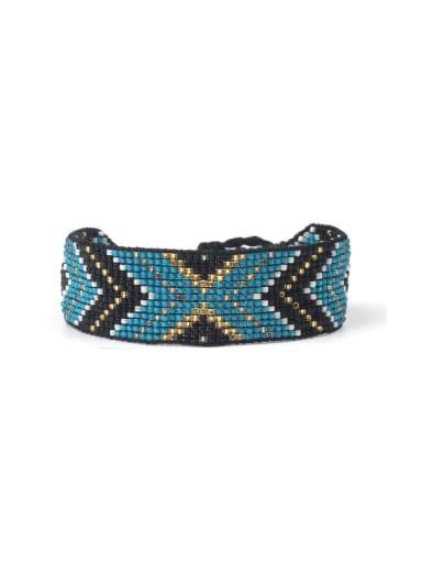 Retro Style Woven Glass Beads Charming Bracelet