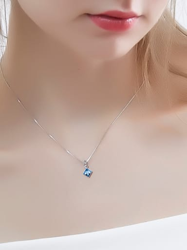 S925 Silver Square-shaped Necklace
