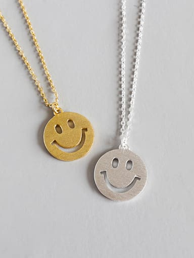 Sterling Silver smile expression Necklace
