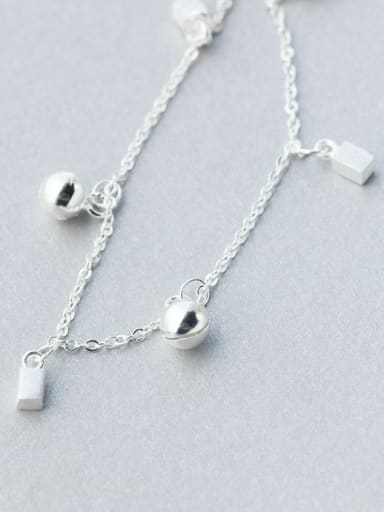 Elegant Adjustable Bell Shaped S925 Silver Foot Jewelry