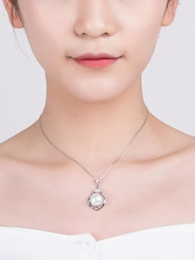 Fashion Freshwater Pearl Heart-shaped Necklace