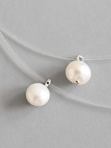 925 Sterling Silver With  Freshwater Pearl Chokers