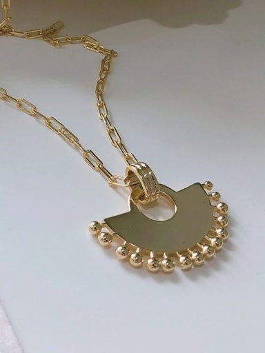 925 Sterling Silver With Gold Plated Simplistic Semicircle Geometric Necklaces