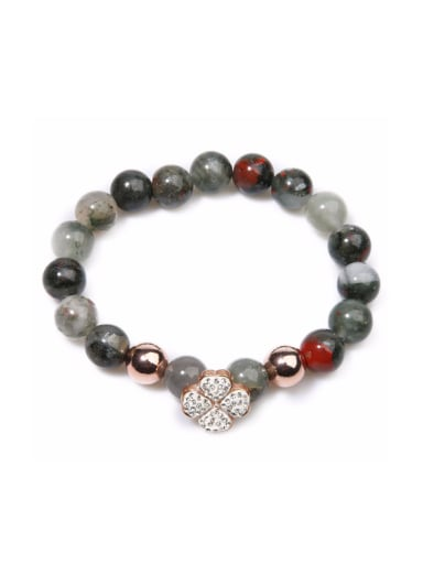 Retro Clover Alloy Beads Simple Style Bracelet