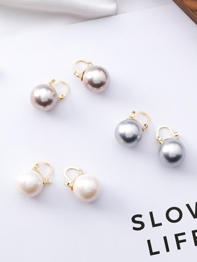 Alloy With Imitation Pearl Clip On Earrings