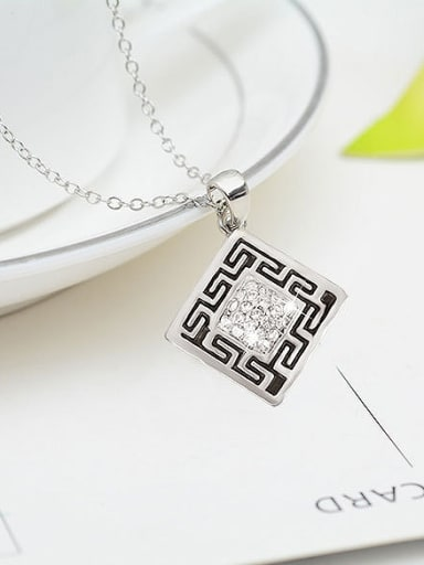 Alloy White Gold Plated Fashion Square-shaped Two Pieces Jewelry Set