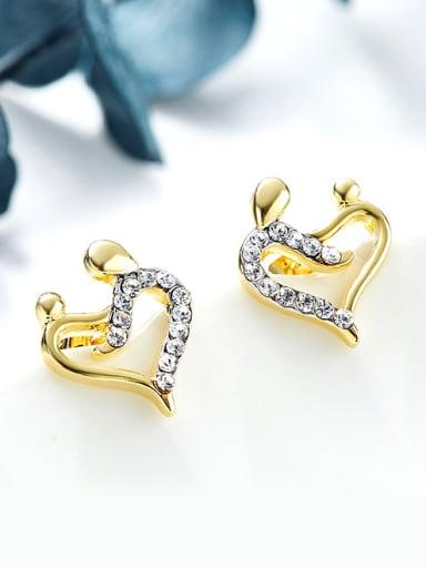 Fashion Heart shaped Zircon Stud Earrings
