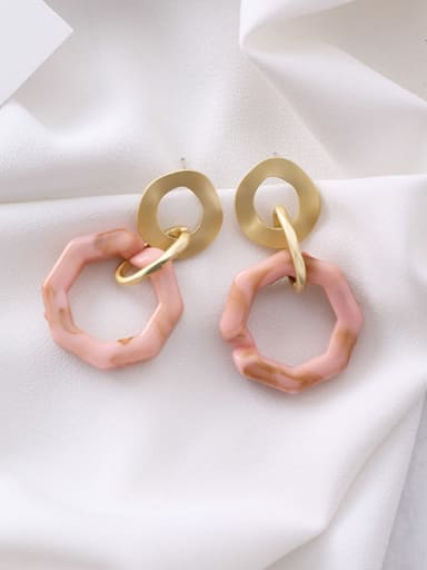 Alloy With Imitation Gold Plated Fashion Geometry Lrregular Drop Earrings