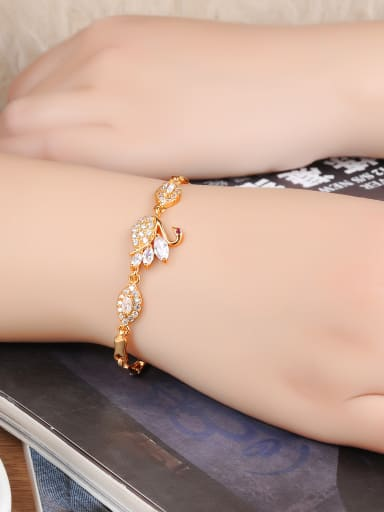 Copper With 18k Gold Plated Delicate Animal cygnus Bracelets