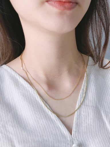 925 Sterling Silver With Gold Plated Simplistic Necklaces