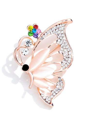 Alloy With Rose Gold Plated Trendy Flower/animal Brooches
