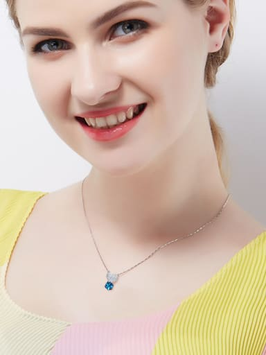 Blue Crystal S925 Silver Necklace