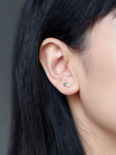 Fashion Cartoon Cat Shaped S925 Silver Stud Earrings