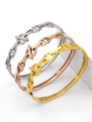 2018 Simple Fashion Classical Zircons Titanium Bracelet