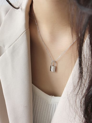 925 Sterling Silver With Platinum Plated Personality Locket Necklaces