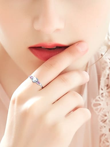 Fashion Heart-shaped Zircon Women Ring