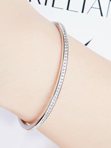 S925 Silver Swarovski Crystal Bangle