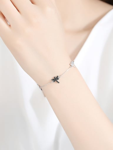 Copper With Platinum Plated Simplistic Insect  Dragonfly Bracelets