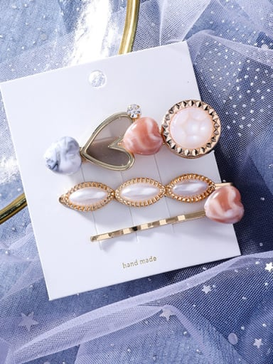Alloy With Rose Gold Plated Fashion Heart Barrettes & Clips